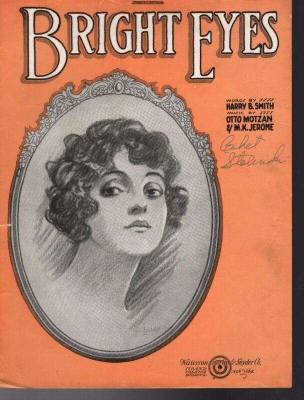 BRIGHT EYES Sheet Music 1920 MINT BARBELLE