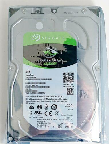 "Seagate Barracuda ST8000DM004 8 TB 256M Cache 3.5"" SATA Desktop Hard Drive OEM"