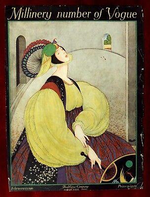 Vogue Magazine Original Cover Only ~ February 15, 1916 ~ Plank