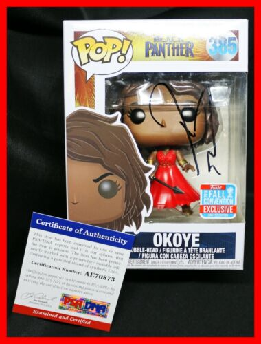 Rare Danai Gurira Okoye Convention Exclusive Signed Black Panther Funko POP PSA