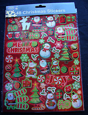 CHEAP Christmas sparkle Stickers loot bag favours gifts Prize Teachers Gifts - Cheap Christmas Favors