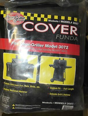 Char-Griller 3 Burner Gas Grill Cover, Black, 3087, Fits the
