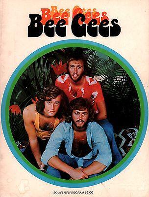BEE GEES 1974 MR. NATURAL TOUR CONCERT PROGRAM BOOK / BARRY GIBB / VG 2 EX