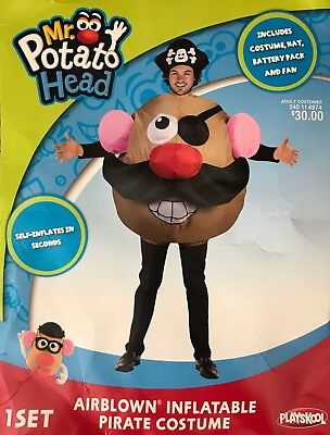 Adult Playskool Air Blown Inflatable Mr Potato Head Pirate Halloween Costume](Potato Costume)