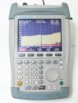 Rohde And Schwarz Fsh18 100khz - 18ghz Spectrum Analyzer