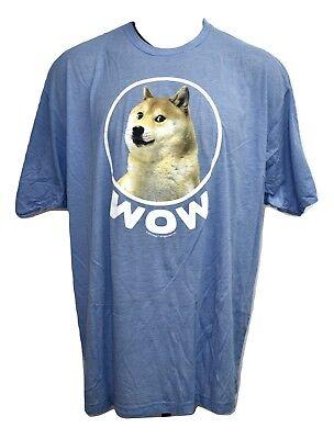 Doge Mens WOW Dog from Meme Kabosu the Shiba Inu from Japan Shirt NWT 3XL