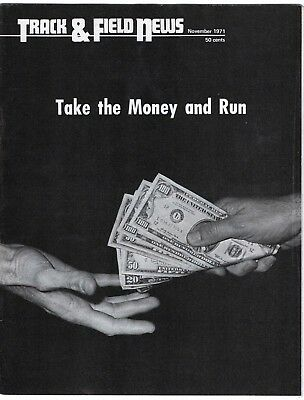 1971 Track and Field News Take The Money and Run Who is an Amateur?