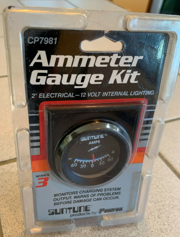 SUNTUNE CP7981 AMMETER GAUGE KIT SERIES 3 | -60 Amps to +60 Amps | NOS