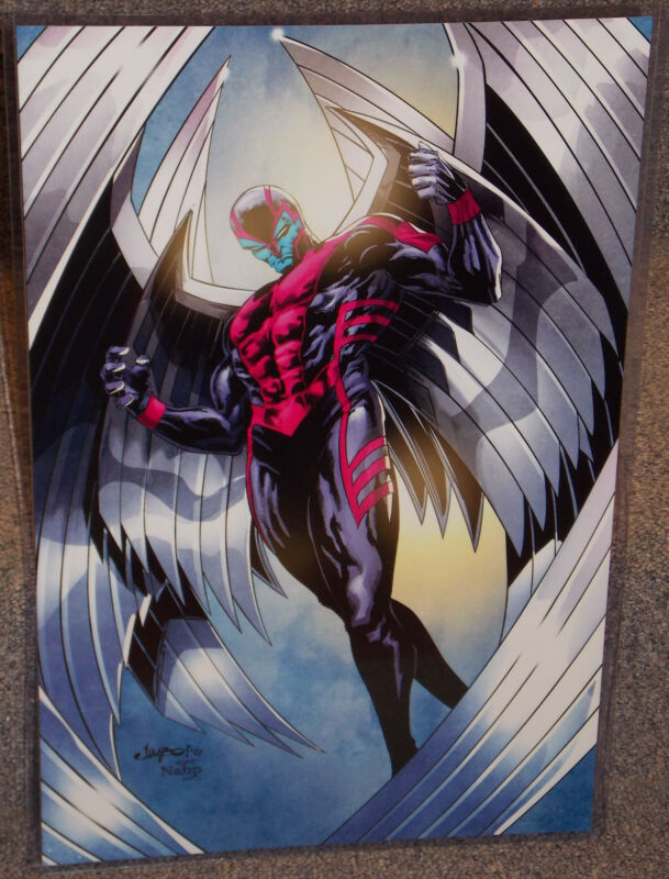 Marvel X-Men Archangel Glossy Print 11 x 17 In Hard Plastic Sleeve