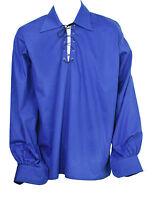Scozzese Blu Reale Giacobita Ghillie Kilt Camicia Pelle Corda Misure S,m,l,xl -  - ebay.it