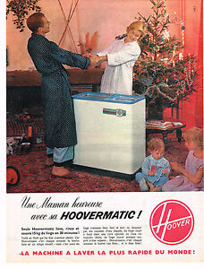 publicite advertising 1960 hoover matic lave linge machine laver ebay. Black Bedroom Furniture Sets. Home Design Ideas