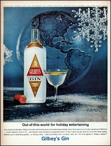 1963 World globe Gilbey