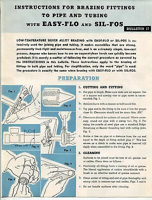 Welding Re  1948  Handy   Harman  Brochure  Instructions For Brazing Fittings