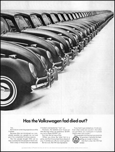 1966 Volkswagen Car has the Volkswagen fad died out yes retro photo print ad L57