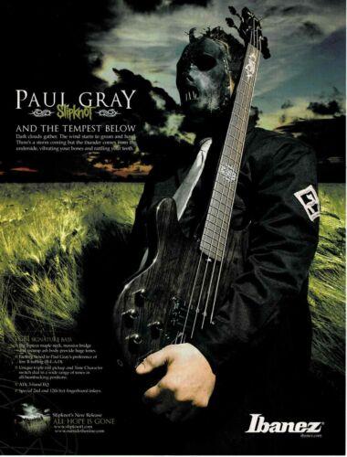 Ibanez Guitars - PGB1 - PAUL GRAY of SLIPKNOT - Print Ad