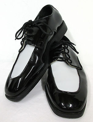 Vintage Retro Black & White Tuxedo Dress Shoes Spats Wedding Gangster Costume