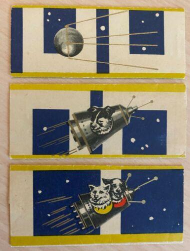 USSR Russian Soviet Chocolate Labels Space Dogs Sputnik Laika Belka Strelka Rare