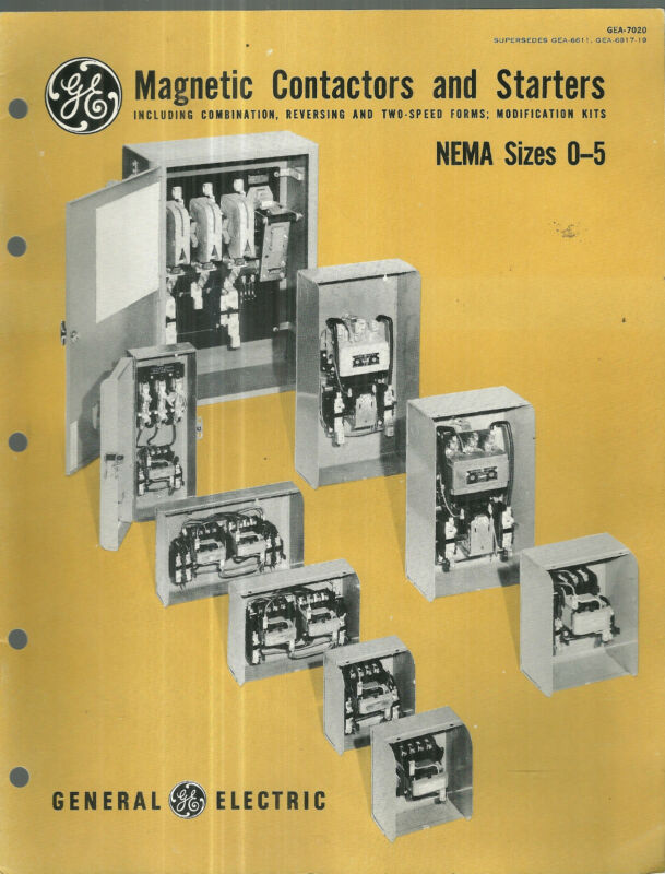 GE General Electric Magnetic Contactors and Starters NEMA Sizes 0-5
