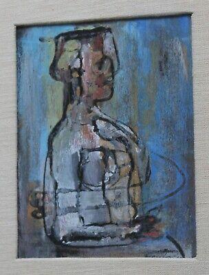MID CENTURY MODERN ART Framed C1948 HUGH MESIBOV Listed Artist SEATED FIGURE