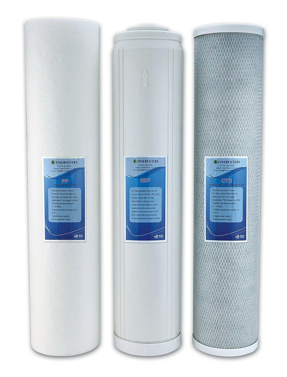 "Finerfilters 10"" x 4.5"" Jumbo GAC//KDF Water Filter Cartridge"