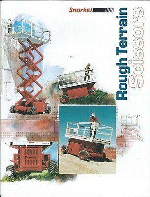 Equipment Brochure - Snorkel - Rough Terrain Scissor Lift - C1994 E6290
