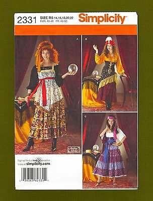 Gypsy Costume Sewing Pattern~Fortune Teller (Sizes 14-22) Simplicity 2331~OOP - Fortune Teller Plus Size Costume