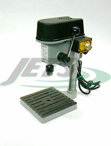 Mini Drill Press Compact Drill Presses Bench Jeweler Hobby 3-Speeds Max 8500 RPM