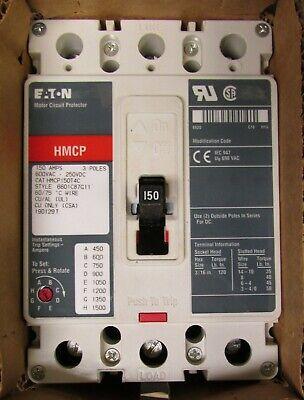 Eaton Cutler Hammer Hmcp150t4c Type Hmcp Motor Circuit Protector 150 Amp