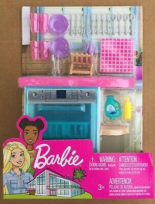 Barbie Indoor Furniture Set with Kitchen Dishwasher NEW