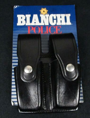 NIP BIANCHI™ Police Belt GLOCK 20 Double MAGAZINE HOLDER Leather