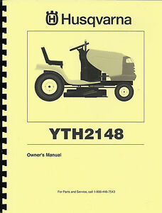 husqvarna yth2148 lawn tractor operator 39 s manual with. Black Bedroom Furniture Sets. Home Design Ideas