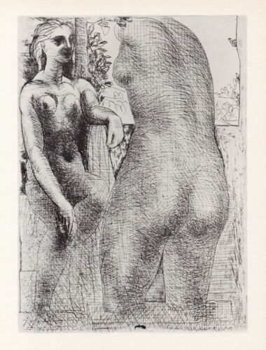 Pablo Picasso, Marie-Thérèse Looking at Her Sculpted Body, Vollard Suite