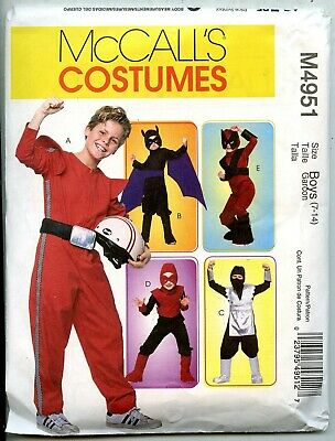 Ninja, Race Driver, Real Bat & More - McCalls Sewing Pattern - Sizes 7-14 -  NEW