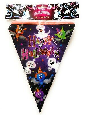 3.6m HALLOWEEN BUNTING Party Banner Garland Ghost Spooky Hanging Triangle