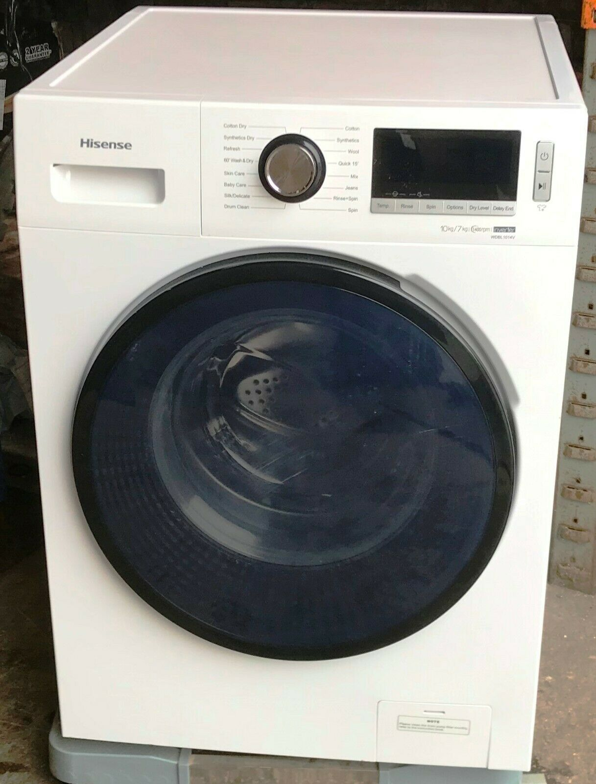 "Hisense ""WDBL1014V"" 10kg/7kg Washer Dryer in White  NEW  RRP £429"
