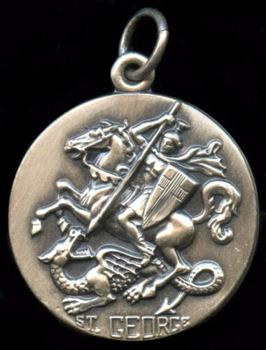 Saint George Religious Pendent Silver Filled