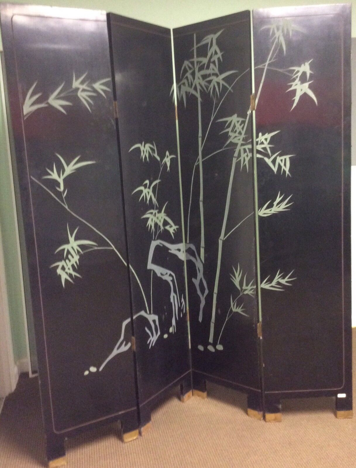 Купить chinese furniture, hand engraved and painted wooden lacquere floor screen
