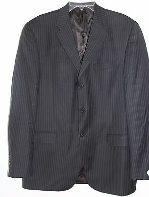 Men's CONCEPTS by CLAIBORNE Black Pinstripe Wool Blazer Sz 42L NWT $275 L#1375