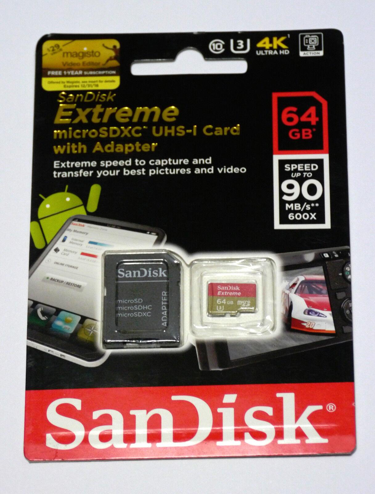 Sandisk 64G Micro Extreme 4K SD card GoPro Hero8 Hero7 Hero
