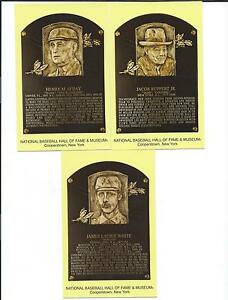 2013 BASEBALL HALL OF FAME-INDUCTION POSTCARDS SET- RUPPERT-O'DAY-WHITE