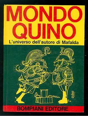 QUINO MONDO QUINO L'UNIVERSO DELL'AUTORE DI MAFALDA BOMPIANI 1970 PRIMA EDIZIONE