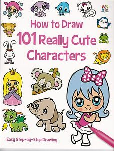 How to Draw 101 Really Cute Characters by Nat Lambert (Paperback) New Book
