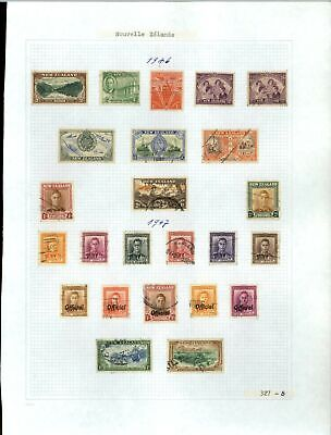 New Zealand 1946-1947 KGVI Album Page Of Stamps #V21272