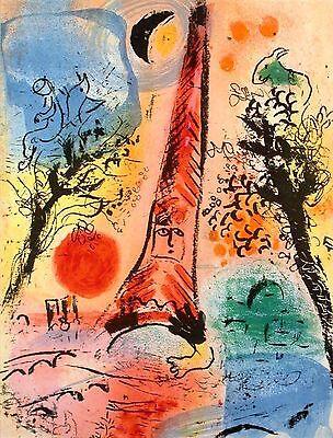 Marc Chagall - Vision of Paris (M.287) - Original Mourlot Color Lithograph