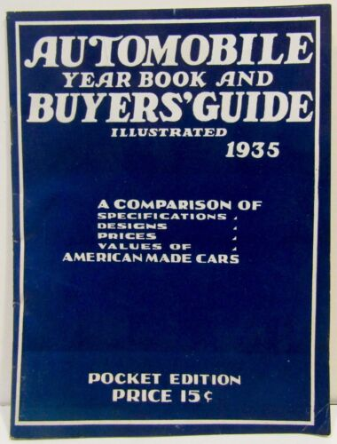 RARE 1935 AUTOMOBILE YEAR BOOK & BUYERS