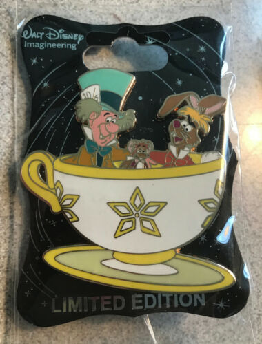 DISNEY PIN MAD TEA PARTY MAD HATTER MARCH HARE DORMOUSE WDI ALICE IN WONDERLAND