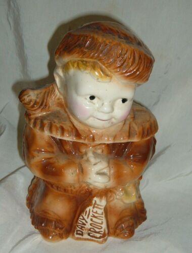 Vintage 1956 USA McCoy Young Davy Crockett Cookie Jar