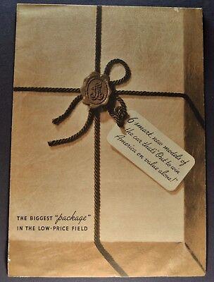 1936 Nash LaFayette Sales Brochure Folder Nice Original 36