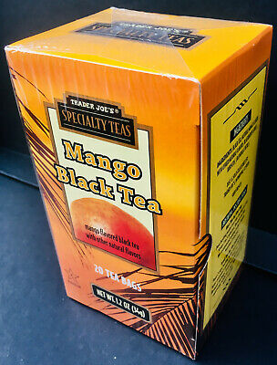 Naturally Flavored Black Tea - Trader Joe's Mango Flavored Black Tea - All Natural - Choose 1, 2, or 4 Boxes!