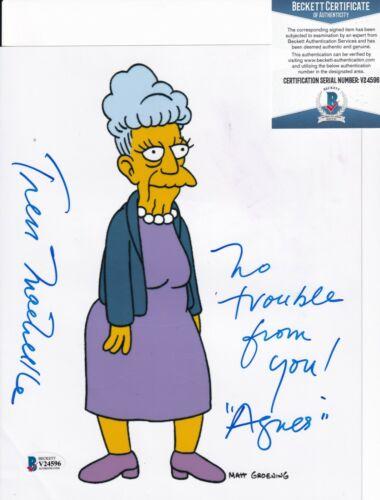 TRESS MACNEILLE signed (THE SIMPSONS) Agnes Skinner 8X10 photo BECKETT V24596